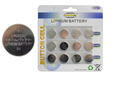 3V 210mAh Cr2032 Cr2025 Cr2016 Lithium Battery Button Cell for Wireless Remote Control pictures & photos