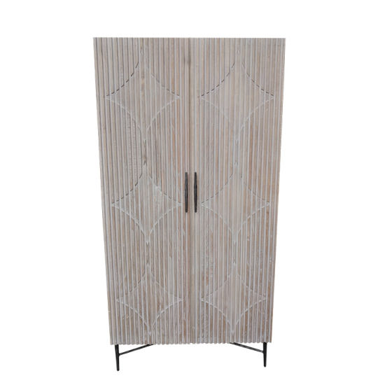Reclaimed Fir Washwhite Antique Standing Cabinet/Closet pictures & photos