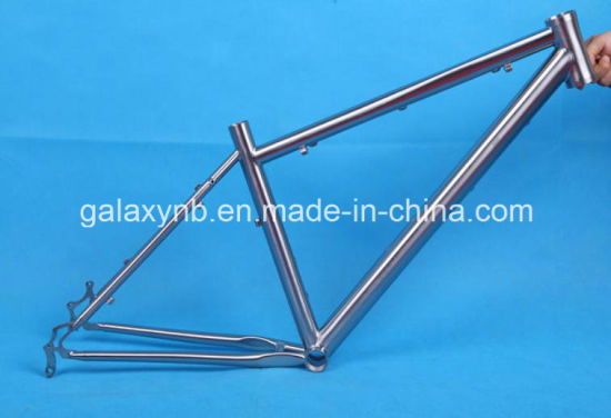 Light Weight Titanium Bicycle Frame for Mountain pictures & photos