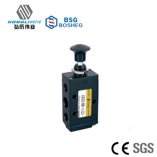 L Series Solenoid Valve Hand Pull Valve 3/2 Way pictures & photos