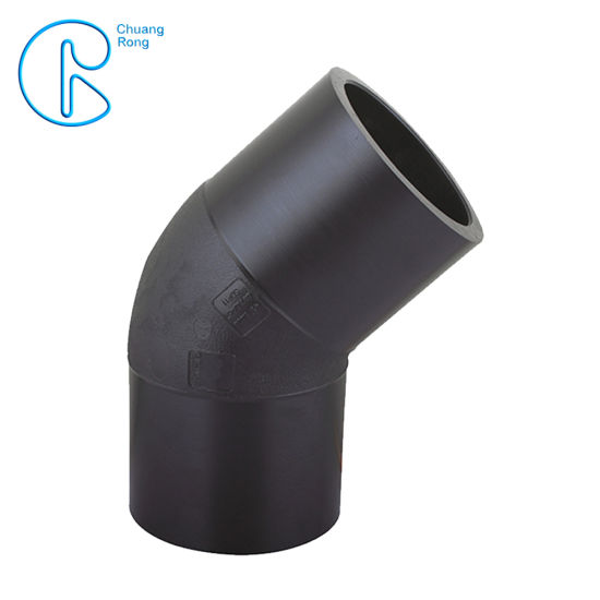 50 Years Use Life PE Butt Welding PE Pipe Fitting 45 Degree Elbow pictures & photos