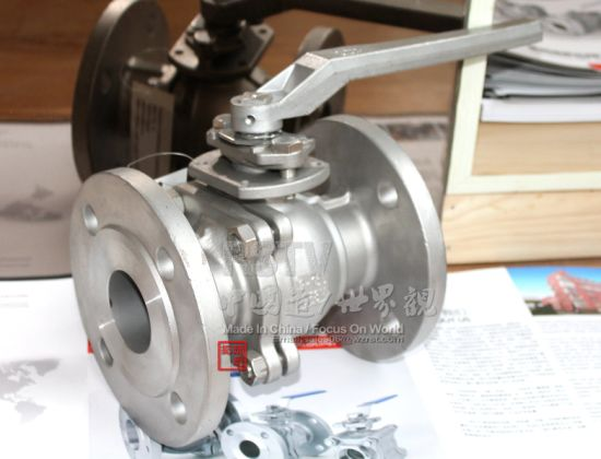 Cast Stainless Steel Low Platform 2PC Flange Ball Valve pictures & photos