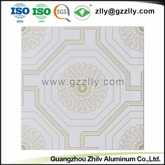 Chinese Classic Style Roller Coating Printing Ceiling Blooming Gold Flowers pictures & photos