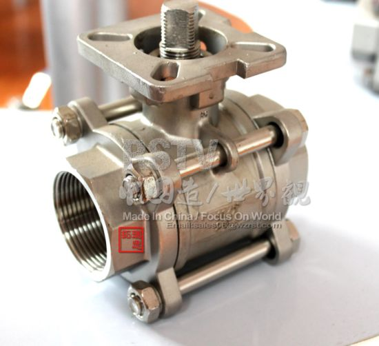 Stainless Steel Female Thread High Platform 3PC Ball Valve pictures & photos