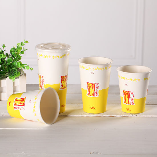 12oz Milk Shake Paper Cup for Cold Drinking pictures & photos