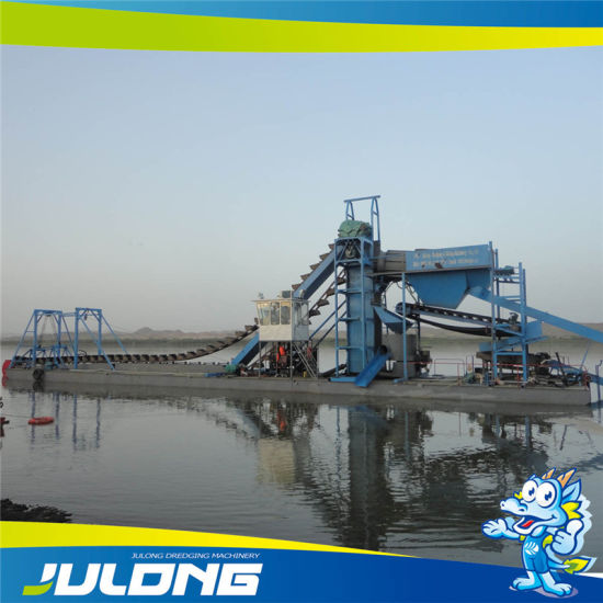 Julong Gold Mining Dredger with Vibration Chute pictures & photos