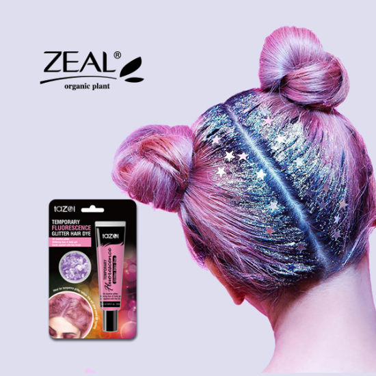Fashion Color Temporary Hair Color DIY Glitter Hair Styling Color pictures & photos