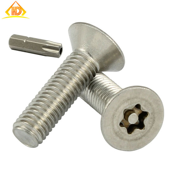 GB2673 Ss 316 304 Stainless Steel Torx Csk Head Security Screw pictures & photos