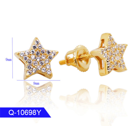 Modern Jewelry 925 Sterling Silver Cubic Zirconia Star Earrings for Sale pictures & photos