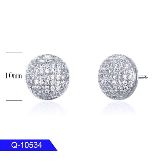 Wholesale High End Iced out Jewelry 925 Sterling Silver CZ Stone Earrings for Man pictures & photos