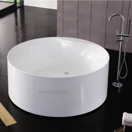 Whirlpool indoor rund  China Portable Round Deep Whirlpool Massage Bathtub (SF5I010 ...