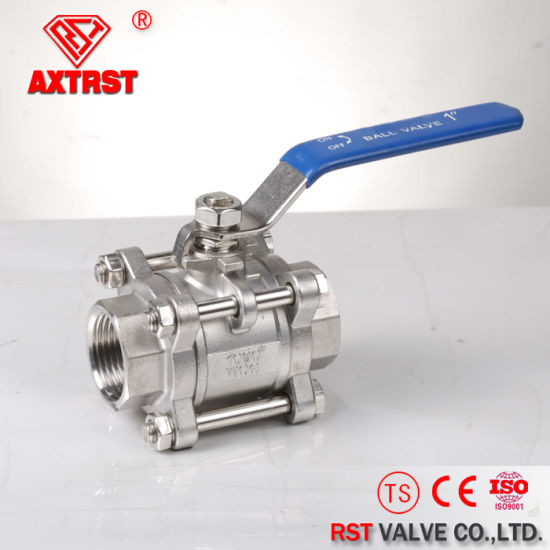 3PC Floating 1000wog Threaded Stainless Steel Ball Valve (Q11F) pictures & photos