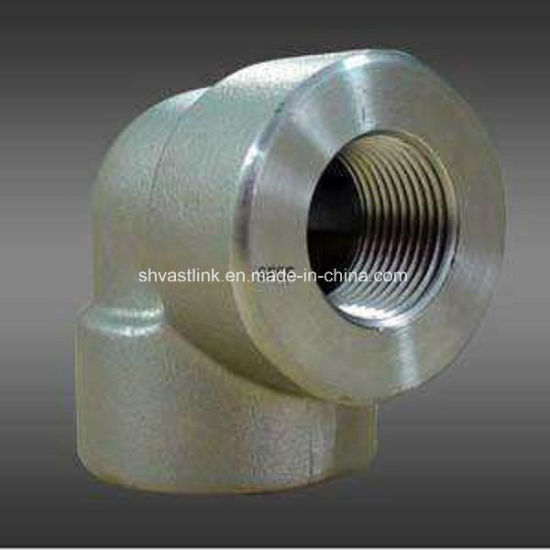 304 Stainless Steel Threaded Pipe Fitting 90 Degree Elbow for Pipe Joint pictures & photos