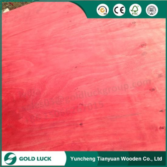 12mm 14mm 15mm 17mm 18mm Red Hardwood Marine Plywood pictures & photos