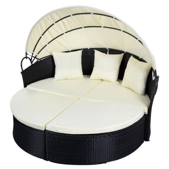 Black Outdoor Round Patio Rattan Sofa Furniture pictures & photos