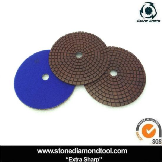 7 Inch Copper Resin Flexible Polishing Pad for Granite pictures & photos