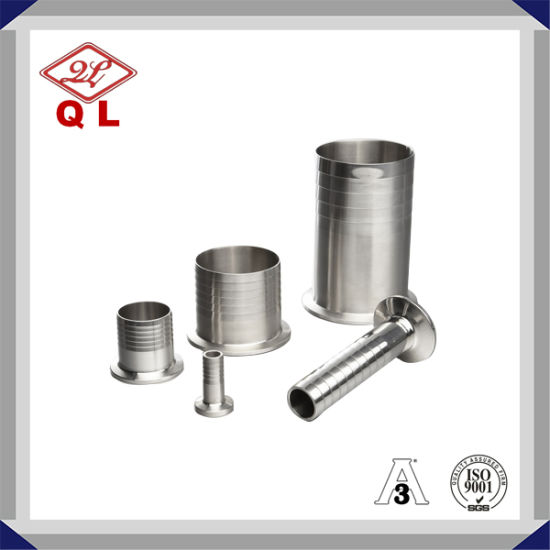 3A Stainless Steel Sanitary 14mphr Clamped Adapter Hose Nipple pictures & photos