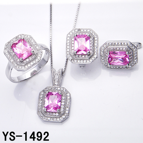Factory Wholesale New Fashion 925 Sterling Silver Jewelry CZ Set for Wedding pictures & photos