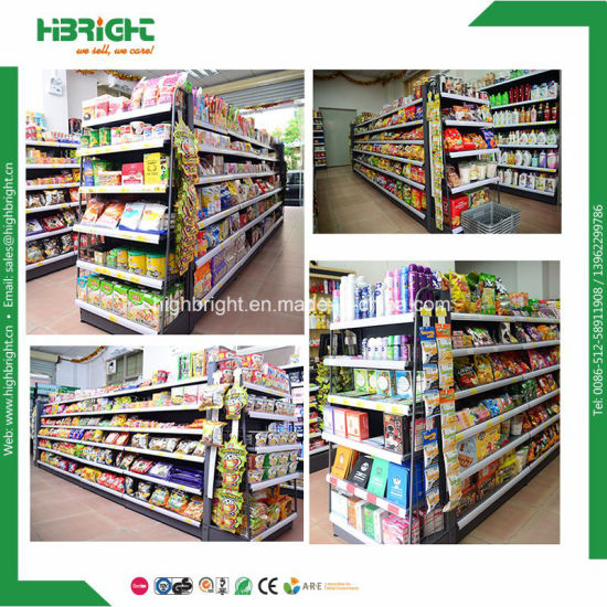 Gondola Supermarket Equipment Supermarket Shelving with Light Box pictures & photos