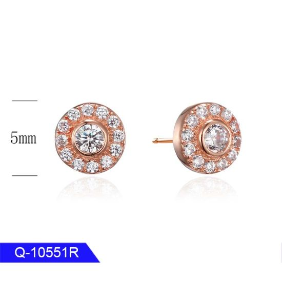 Wholesale Latest Design Iced out Jewelry 925 Sterling Silver Cubic Zirconia Earrings for Man pictures & photos