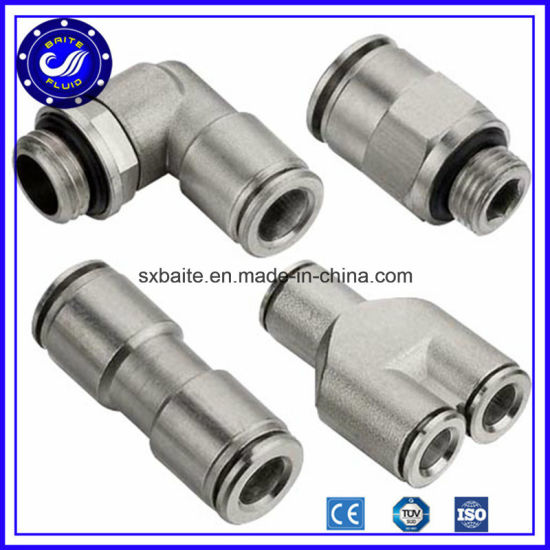 China Fast Air Tube Connector Pneumatic Metal Fittings pictures & photos