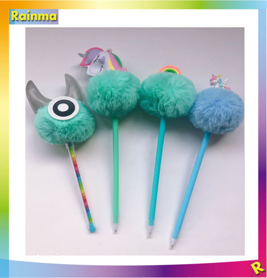 Custom Cute Plush Party Favor Pen for Promotional Gift Supply pictures & photos