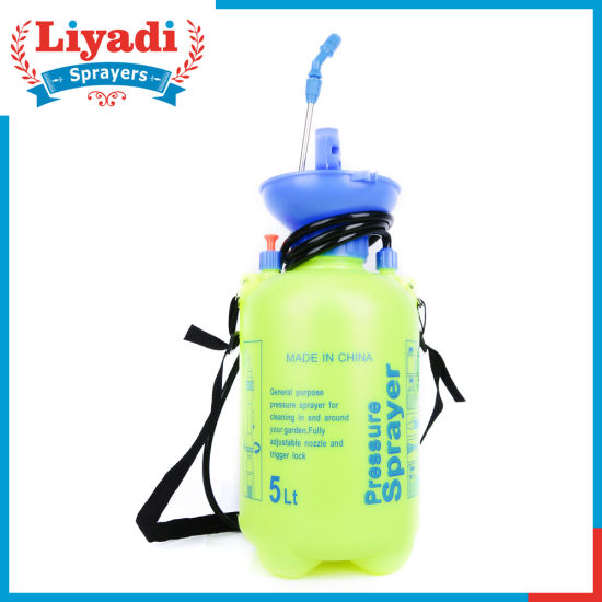 5L Small Garden Manual Pressure PE Pump Shoulder Sprayer pictures & photos
