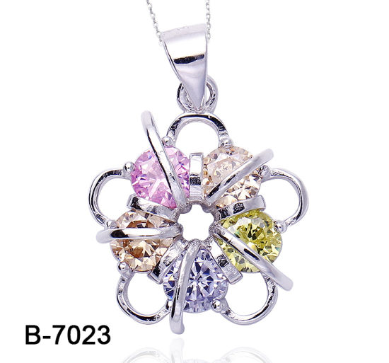 Custom Fashion Jewelry 925 Sterling Silver Multicolor Cubic Zirconia Pendant pictures & photos