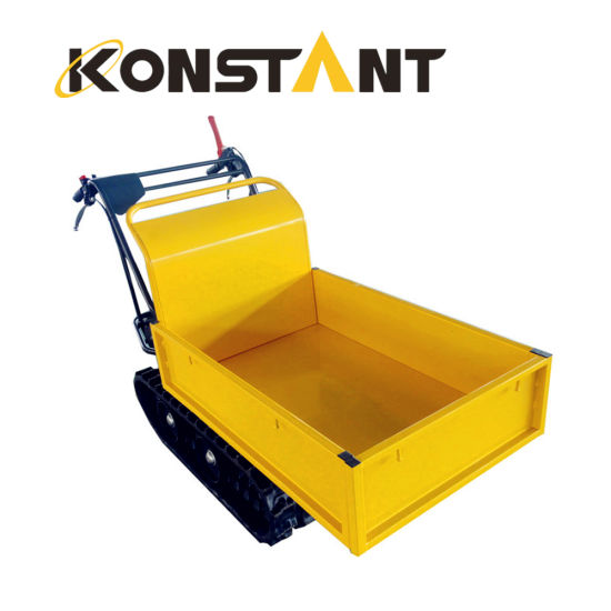 Gasoline Powered Construction Mini Track Dumper with Optional Bucket Color pictures & photos