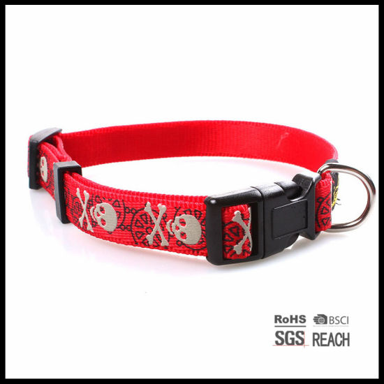 Wholesale Skull Pattern Cheap Silk-Screen Imprinted Designer Pet Dog Collar pictures & photos