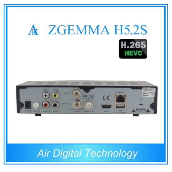 New Product Dual Core Bcm73625 H. 265 TV Decoder Twin DVB S/S2 Zgemma H5.2s pictures & photos