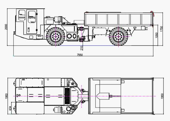 Flame Proof Diesel Rubber-Wheel Truck pictures & photos