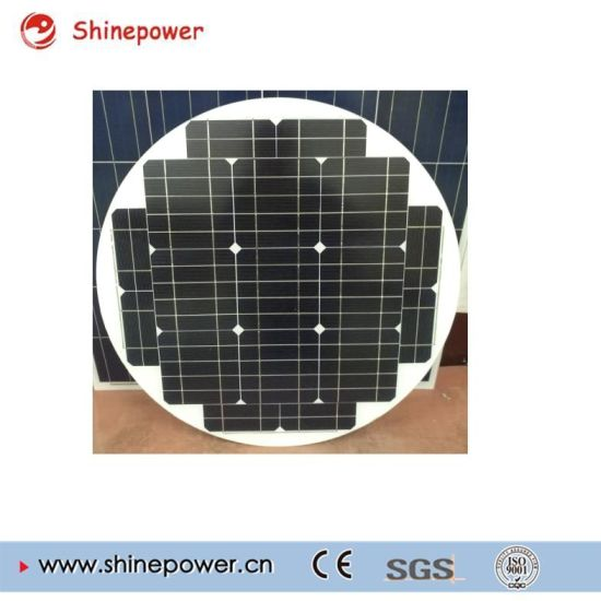 Round 30W 18V Solar Panel for Solar Street Light. pictures & photos