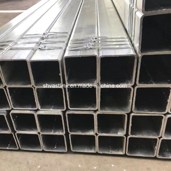 BS1387 Galvanized Square Steel Pipe for Construction pictures & photos