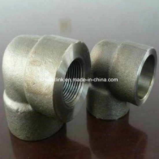 304 316 Stainless Steel Threaded Pipe Fitting 90 Degree Bend for Pipe Assemble pictures & photos