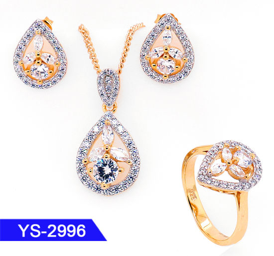 Factory Wholesale New Fashion Jewelry 925 Silver or Brass 14 K Gold Plated Star Jewellery Sets pictures & photos