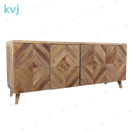 Kvj-7300 Rustic Vintage Solid Wood Storage Recycled Fir Cabinet pictures & photos