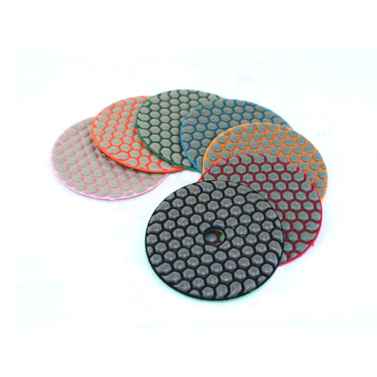 "3"", 4"", 5"", 7"" Velcro Diamond Flexible Resin Dry Polishing Pads pictures & photos"