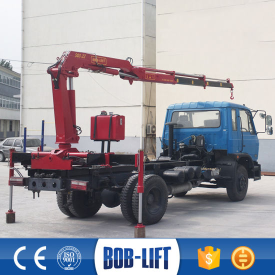 Pickup 2 Ton Truck Mounted Crane for Sale pictures & photos