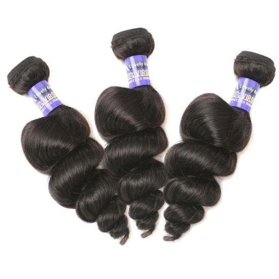 Peruvian Virgin Human Hair Bundles Extension Loose Wave pictures & photos