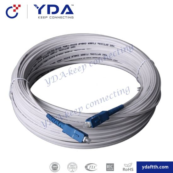 Factory Supply Indoor / Outdoor Sc/Upc Sm 9/125 G652D G657A Fiber Drop Cable Patch Cord pictures & photos