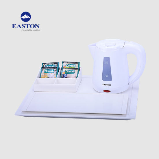 Hotel Electric Kettle Sets with Melamine Tray pictures & photos