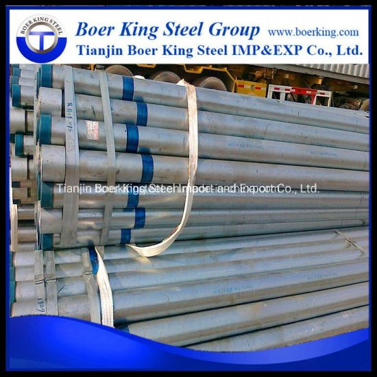 Hot Dipped Galvanized Steel Pipe Trading, Zinc Galvanized Round Steel Pipe pictures & photos