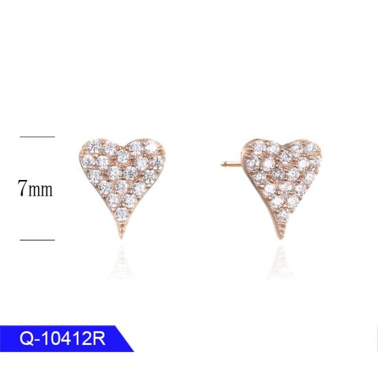 Wholesale New Model Iced out Jewelry 925 Sterling Silver Cubic Zirconia Earrings for Man pictures & photos