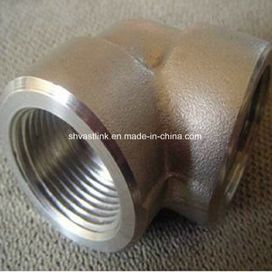 304 316 Stainless Steel Threaded Pipe Fitting 90 Degree Elbow for Pipe Joint pictures & photos