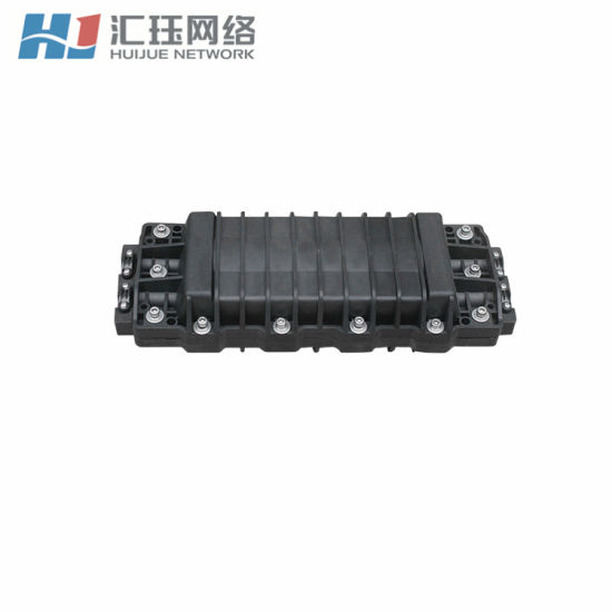 Two-Ends Horizontal Aerial Fiber Closure with 4 Cable Ports 2-in and 2-out 72 Core pictures & photos