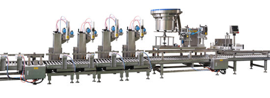 Automatic Weighing and Filling Line / Suitable for Barrel Material Filling pictures & photos