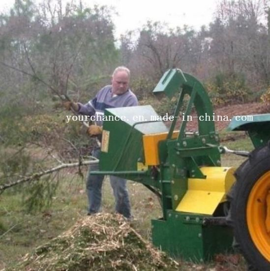 New Condition Wc-8m 35-80HP Tractor Pto Drive 8 Inch Mechanical Feeding Type Wood Chipper for Sale pictures & photos