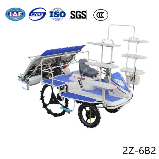 Agricultural Automatic Riding Type 6 Rows Rice Transplanter Machine Seedling Planter pictures & photos