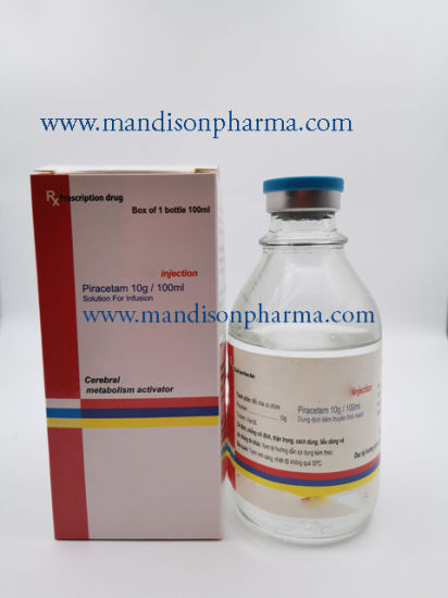 Piracetam Solution for Infusion 10g/100ml GMP Certified Medicine pictures & photos